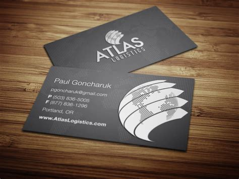 industrial carrier company business card brochure