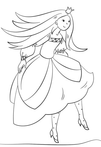 dancing princess coloring page  printable coloring pages