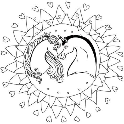 Coloriages Bricabrac Coloriage Mandala Licorne En Ligne Gratuit à Imprimer