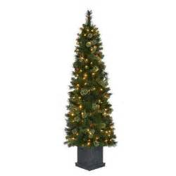 porch potted christmas trees artificial christmas trees the home depot