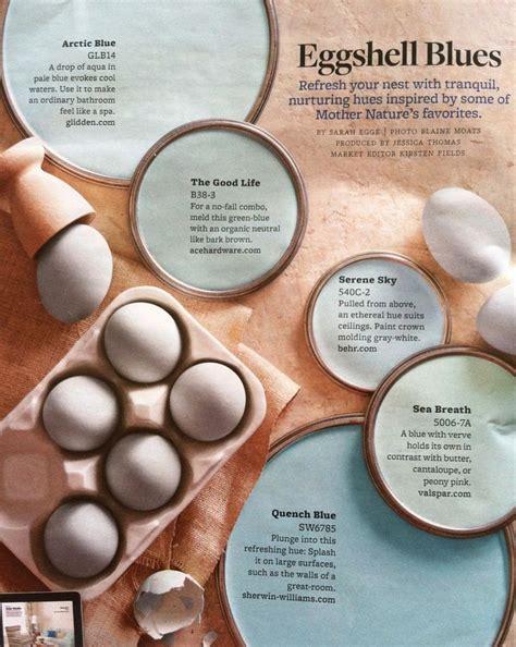eggshell blues paint palette interiors  color