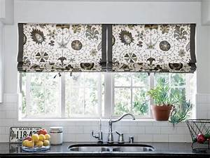 10 stylish kitchen window treatment ideas hgtv With kitchen colors with white cabinets with window cover sticker