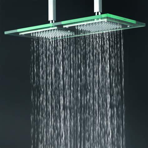 contemporary     glass square led rainfall