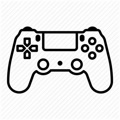 Controller Joystick Playstation Gamepad Icon Playstation4 Outline