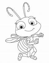 Coloring Insect Cute Pages Baby sketch template