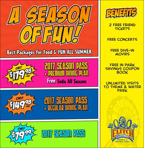 elitch gardens coupons 2017 season passes elitch gardens theme and water park