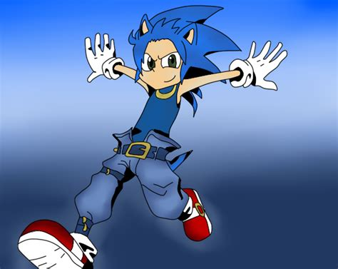 sonic human form by themartyrlover on