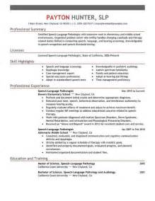 speech therapy resume sles the world s catalog of ideas