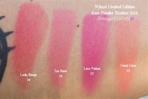 milani rose powder blushes limited edition