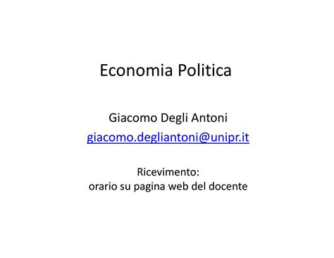 dispense economia politica introduzione dispensa di economia