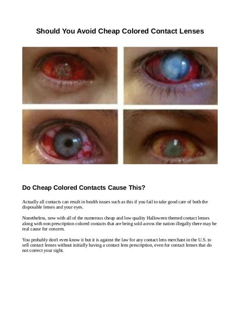 eye color contacts non prescription are cheap colored contacts dangerous