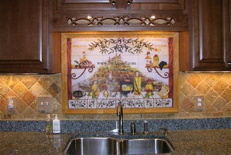 kitchen backsplash tile murals italian tile backsplash kitchen tiles murals ideas 5069