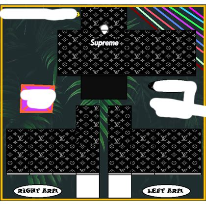 black  white supreme hoodie roblox supreme
