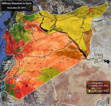 aktuelle karte und situation  syrien