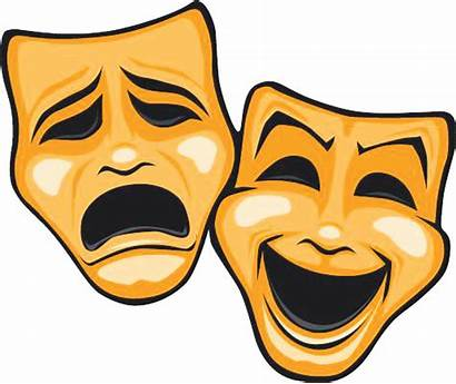 Masks Comedy Theatre Tragedy Mask Clipart Transparent