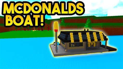 Flying Boat Build A Boat For Treasure by Mcdonald S Boat Build A Boat For Treasure Roblox Doovi