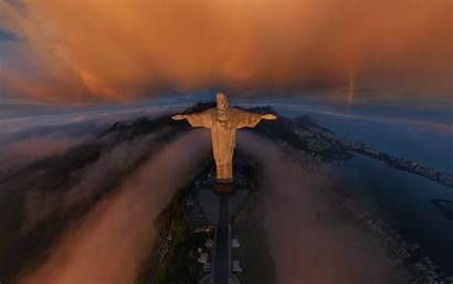 Christ Redeemer Brazil Clouds Rio Janeiro Statue