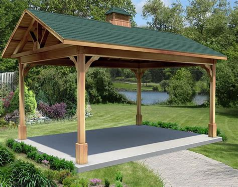 gazebo 6x6 cedar gable roof open rectangle gazebos with 6 12 roof