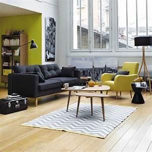 Canapé Jaune Maison Du Monde : coups de c ur canap fauteuil ~ Teatrodelosmanantiales.com Idées de Décoration