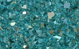 Turquoise Glass Fireplace