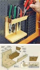 Pegboard Selber Bauen : diy pegboard tool holder workshop solutions plans tips ~ Watch28wear.com Haus und Dekorationen