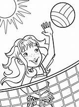 Volleyball Coloring Pages Printable Sports Blocking Quotes Beach Sheets Sport Fun Softball Letscolorit Disney Results Explore sketch template