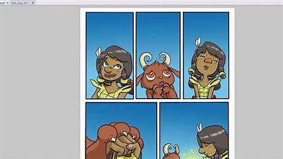 Comic Character Pages Panel Coloring Layouts Strip