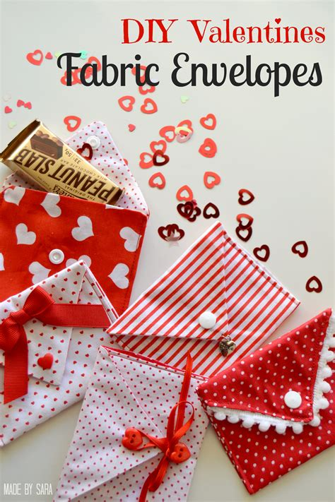 valentine fabric envelopes tutorial peek  boo pages