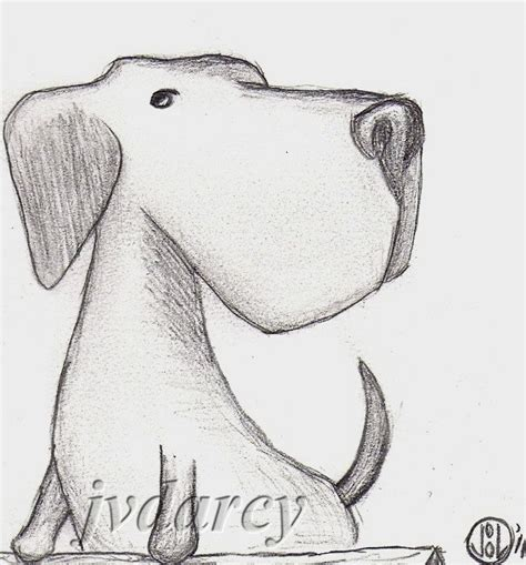axel dog labrador retriever original small pencil