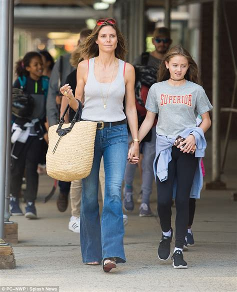 Maybe you would like to learn more about one of these? Heidi Klum steps out with four children in NYC   Daily Mail Online