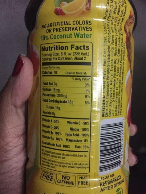 bodyarmor super drink nutrition facts blog dandk