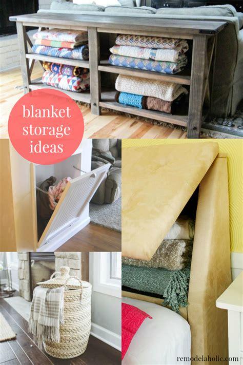 Remodelaholic  5 Easy Ways To Store Blankets. Barrett Fencing. Egg Shaped Swing. Wood Floors In Kitchen. Modern Queen Bed. Herringbone Tile Floor. Bedroom Makeup Vanity. Cast Iron Mailbox. Modern Table Runner