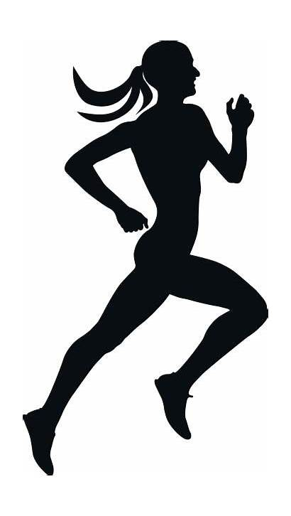 Runner Clipart Clip Running Track Female Vector