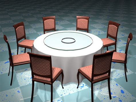 banquet table and chairs 3d model 3d studio 3ds max