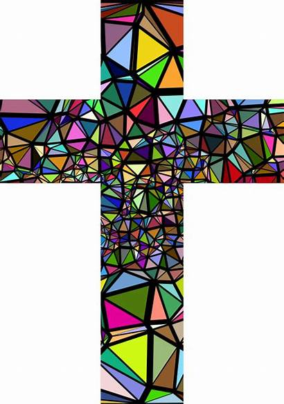 Cross Stained Glass Clipart Background Transparent Catholic