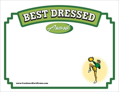 dressed certificate cheerleading award templates