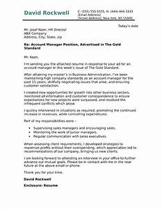 account manager cover letter sample With cover letter for account officer