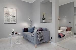 Salon Mur Gris Clair. d coration salon gris tout pratique. un salon ...