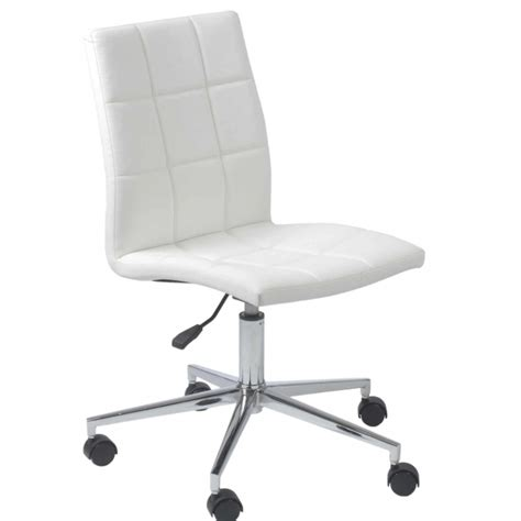 white desk chair with wheels white armless office chair computer with wheels pictures