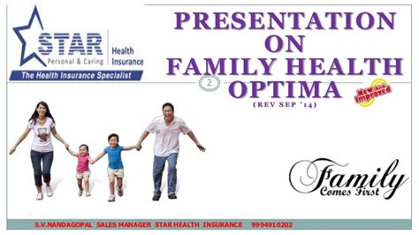 Star health & allied insurance company limited helps you to calculate your annual premium for its different star health insurance plans easily and conveniently. Family health optima nandagopal-9994910202