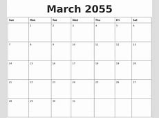 February 2055 Printable Calendars