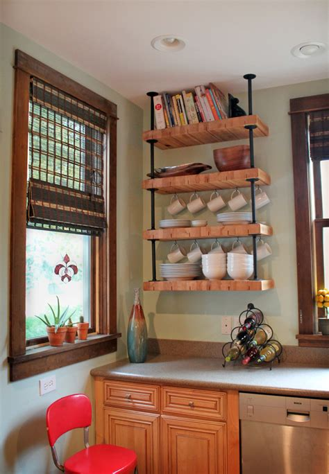 wood block countertop dislike mainstream kitchen shelving these tens industrial