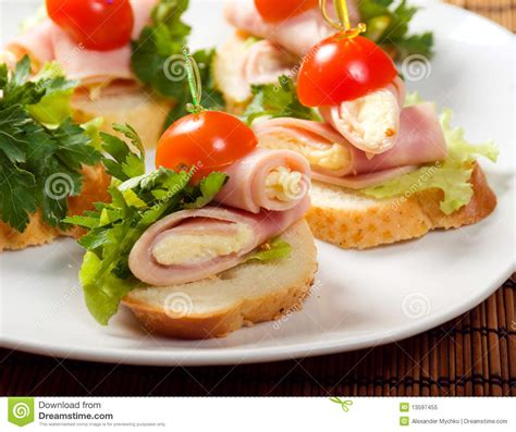 image canapé ham canape stock image image of cuisine canape