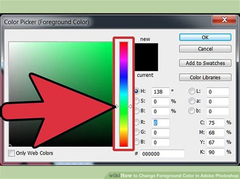 how to change a color in photoshop how to change foreground color in adobe photoshop 8 steps