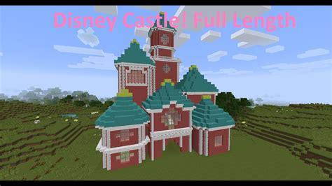 minecraft   built  disney castle full version youtube