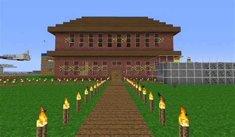 brick wall in house minecraft creative 1 3 2 bukkit server minecraft server