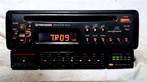 vintage pioneer deh  amfmcd player car stereo wbp