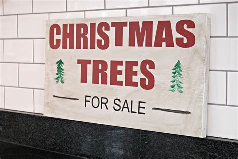 christmas tree for sale sign dare to deck the halls