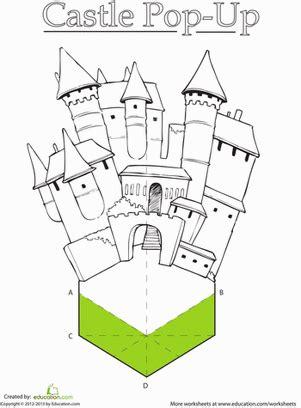 paper castle worksheets castles and