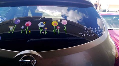 remove vinyl signs decals  designs   car